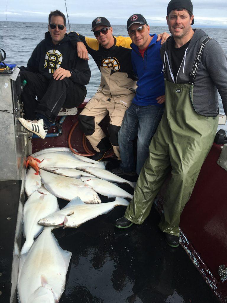 Catching Halibut in North West British Columbia