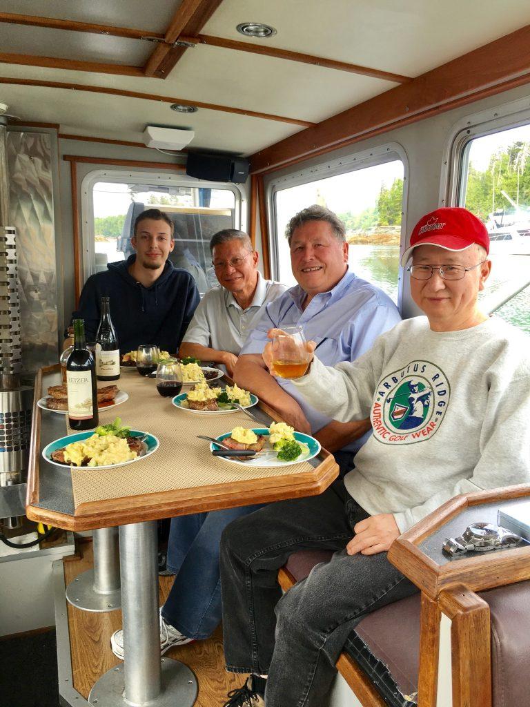 Gourmet Meals Onboard Kaien Sport Fishing Charter